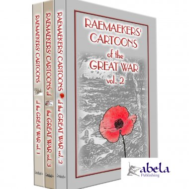 RAEMEAKERS CARTOONS of the GREAT WAR 3 Book set + FREE 4th WWI Book